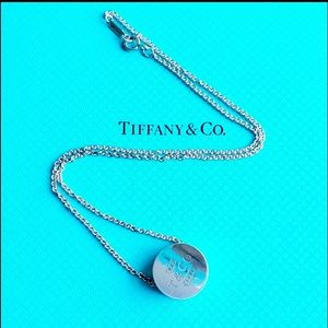🍭Tiffany & Co 1837 disc pendant. Sterling silver